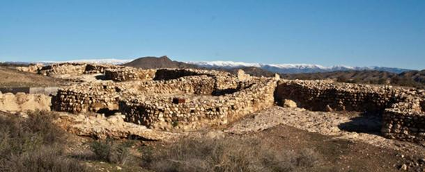 Enclave and building at the prehistoric site at Los Millares.