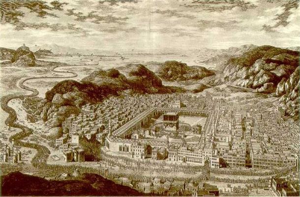 Engraving of Mecca, circa 1778. (Public Domain)