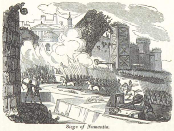 Engraving of the Siege of Numantia, Iberia. (Metilsteiner / Public Domain)