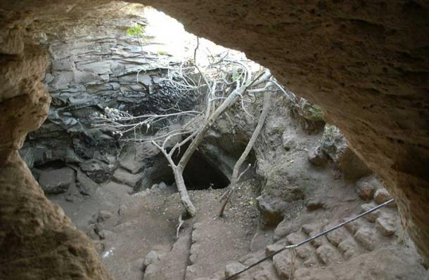 Entrance to a cave used by Bar Kochba rebels.