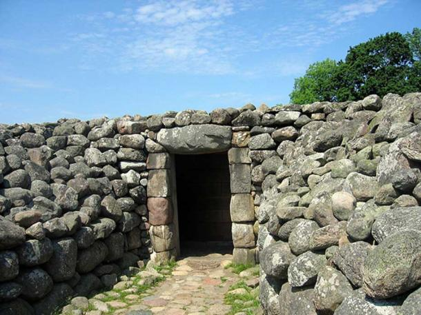 "Entrance to the Kungagraven ""The King's Grave"" in Kivik, Sweden."