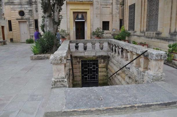Entrance to the St. Agatha catacombs, Malta. (Image: Peter J. Shields)