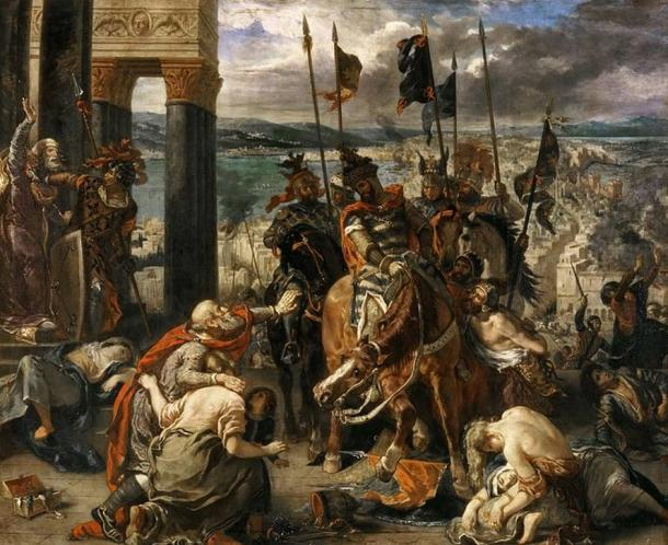 'The Entry of the Crusaders into Constantinople' (1840) by Eugène Delacroix