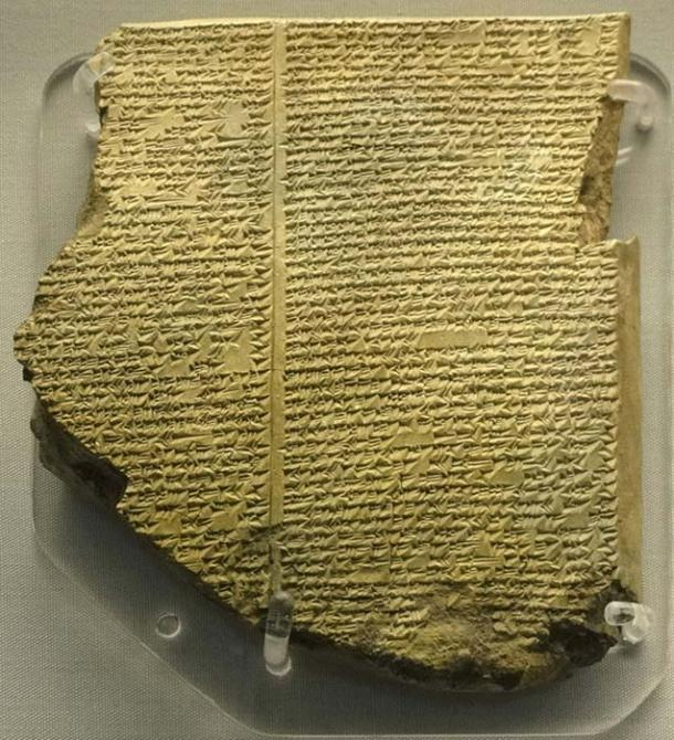 Tablet containing part of the Epic of Gilgamesh