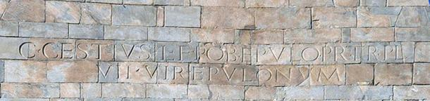 Epitaph Written on the Pyramid of Cestius.