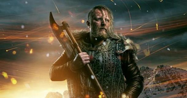 A Viking warrior with an axe. Eric Bloodaxe raided around Britain before settling into a kingship there