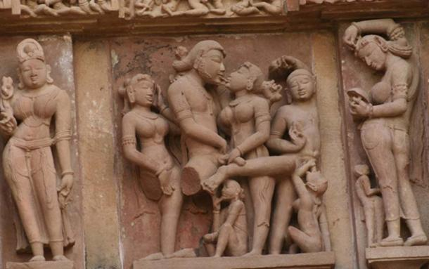 Erotica at Khajuraho temples