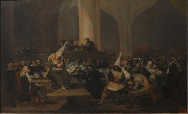 Escenca de Inquisición, Francisco Goya (1808/1812) (Wikimedia Commons)