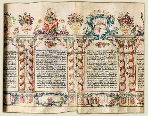 Esther Scroll. (1750)