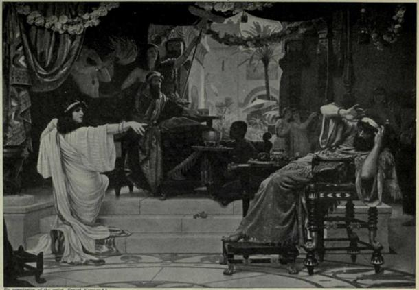 Esther denouncing Haman by Ernest Normand.