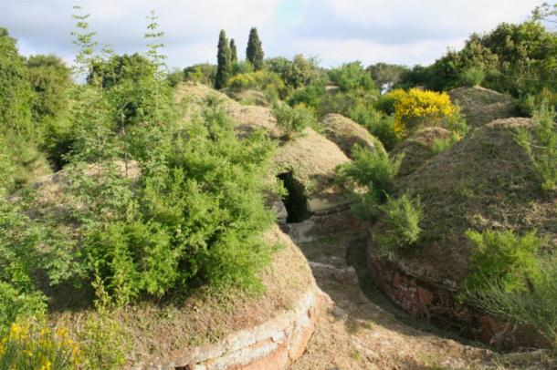 The Etruscan necropolis was organized with a city-like plan.