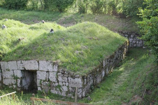 An Etruscan tomb in Orvieto.