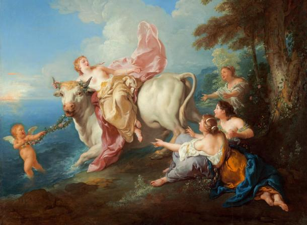 Europa and the bull, by Jean-François de Troy (1716)