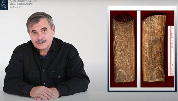 "Dr. Evgeny Artemyev claims that the ivory bars were created using an advance technique that made them ""fluid-like,"" almost like playdoh. Source: Evgeny Artemyev / Russian Academy of Sciences"
