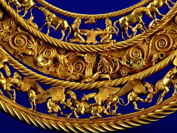 Example of Scythian art, gold neckpiece, from a royal kurgan, 4th century BC. (AeroSSC / Public Domain)
