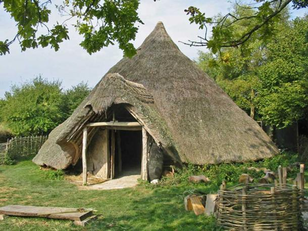 Example of an Iron Age (Celtic) round house.