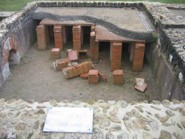 Example of a hypocaust system found in France (CC BY SA 3.0)