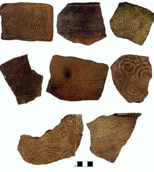 Examples of the kinds of pottery of ancient southern Appalachia. (Jacob Lulewicz / Washington University in St. Louis)