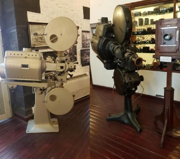 Examples of the Cinema cameras in the museum (Images: Courtesy Micki Pistorius)