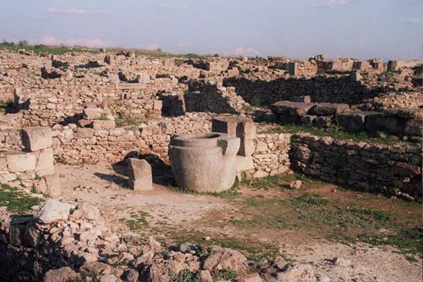 Excavated ruins at Ras Shamra.