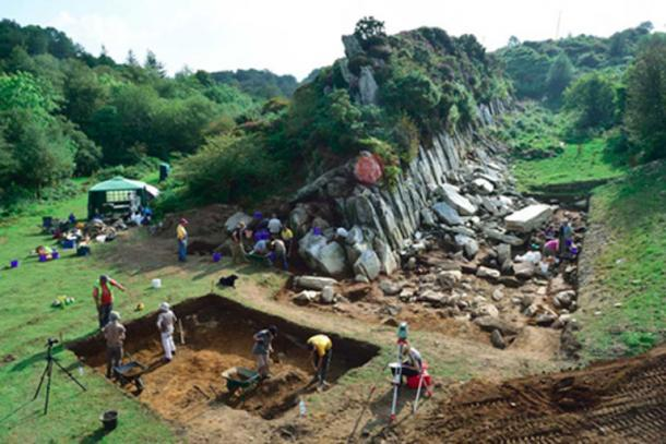 Excavation of a quarry in Wales where Stonehenge's 'bluestones' came from. (University College London)