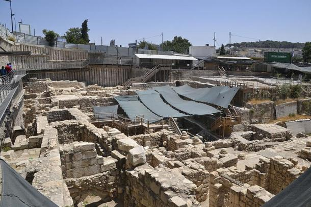 Excavation work being carried out in the City of David