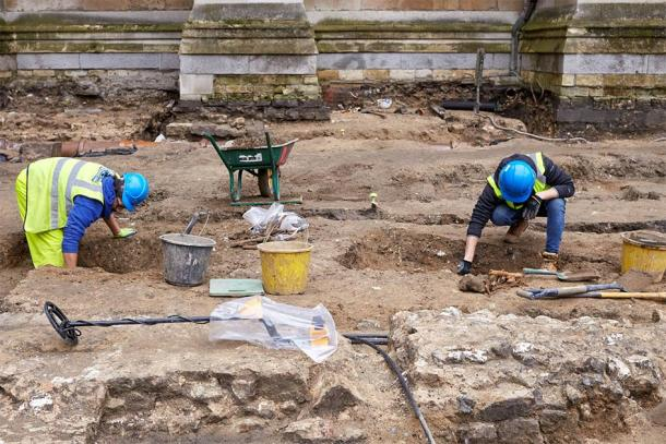 Pre-Construct Archaeology have been excavating the Great Sacristy site at Westminster Abbey before the construction of new ticketing and security facilities. (Image: Westminster Abbey)