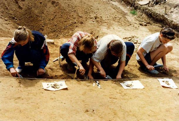 Excavations at Goncharka-1 site. Image: Oksana Yanshina