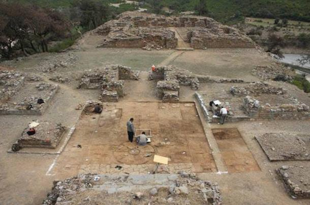 Excavations at Bhamala stupa.