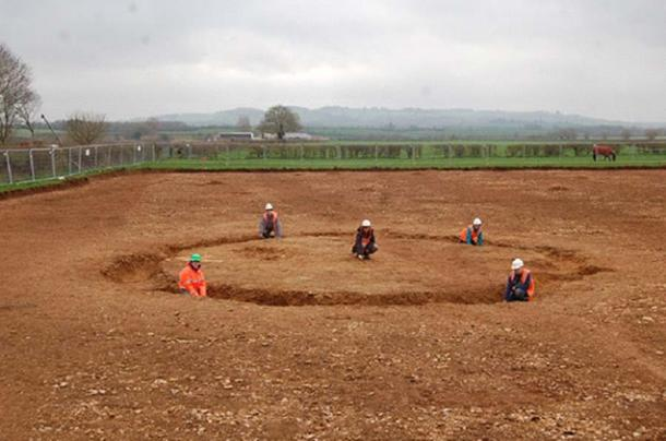 Excavations at Mansell Farm, Newbold-on-Stour (Credit: Archaeology Warwickshire)