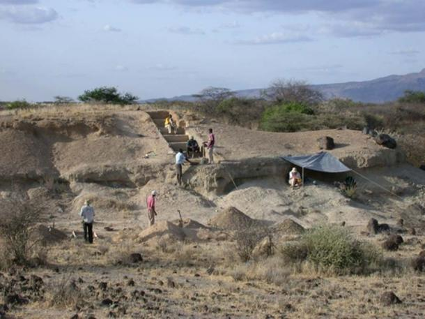 Excavations at the Olorgesailie site. (Image: Human Origins Program, Ryan Lavery Smithsonian)