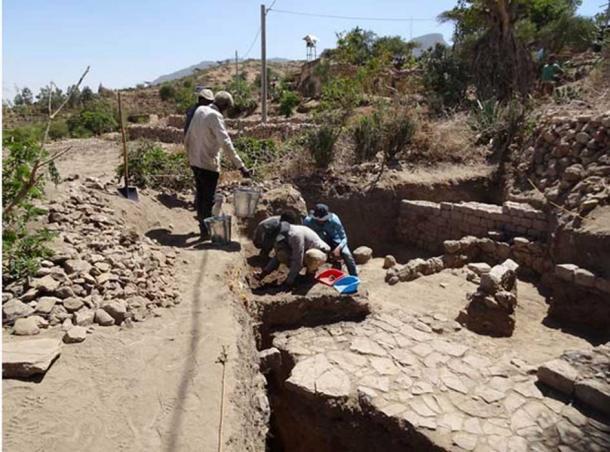 Excavations at the site in Ethiopia