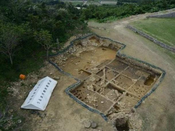 Excavations at the site.