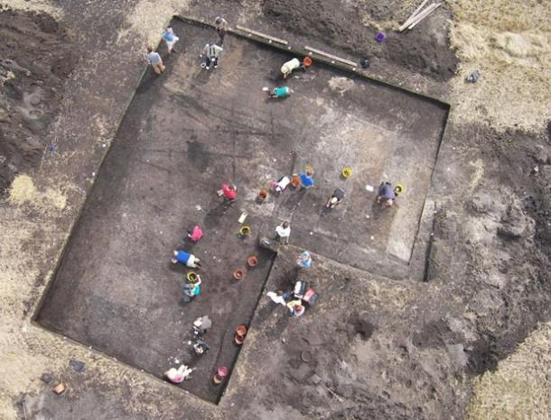 Excavations at the Star Carr site.