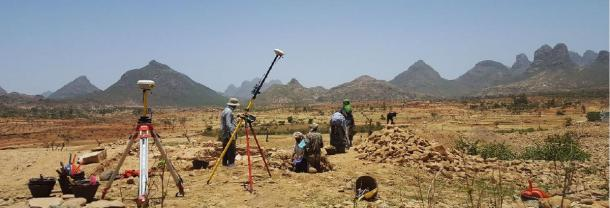 Excavations at Beta Samati in 2016. (Credit: I. Dumitru via Antiquity)