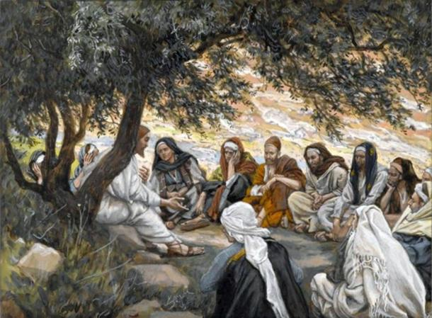 'The Exhortation to the Apostles' (c. 1886-1894) by James Tissot.