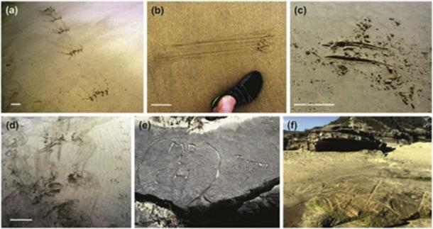 Experts need to study the findings and differentiate the ancient patterns from modern graffiti. (Science Direct)