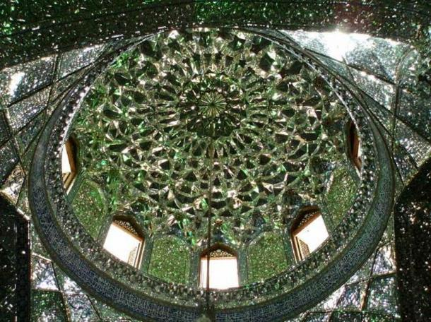 Extensive mirror-work under a dome.