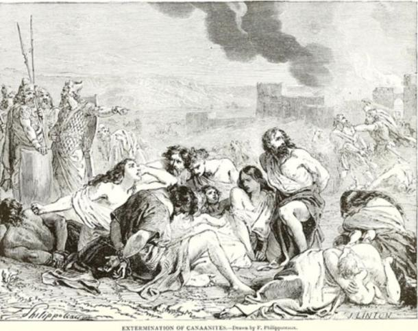 Extermination of the Canaanites by F Philippoteaux