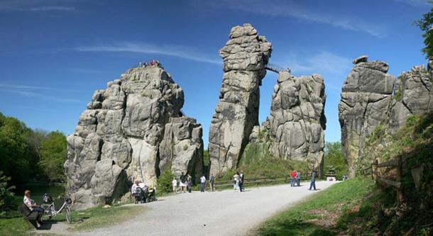 Externsteine in Teutoburg Forrest near Horn-Bad Meinberg.