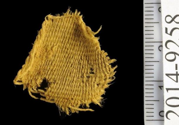 Fabric sample discovered by archaeologists in the ancient Timna mines.