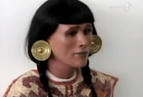 Facial reconstruction of the 'Chornancap priestess'