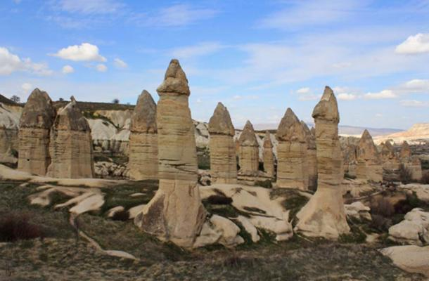 'Fairy chimneys', a common feature in some regions of Turkey, were found underwater in Lake Van