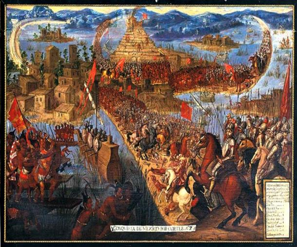 Fall of Tenochtitlan, in the Spanish conquest of the Aztec Empire. (Public Domain)
