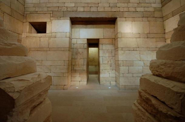 False doors evolved from the facades of Mastaba tombs, like this Mastaba Tomb of Perneb