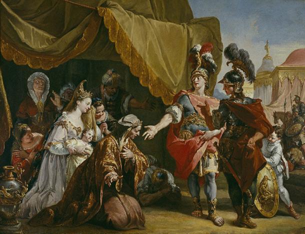 Family of Darius before Alexander by Francesco Fontebasso. (Public Domain)