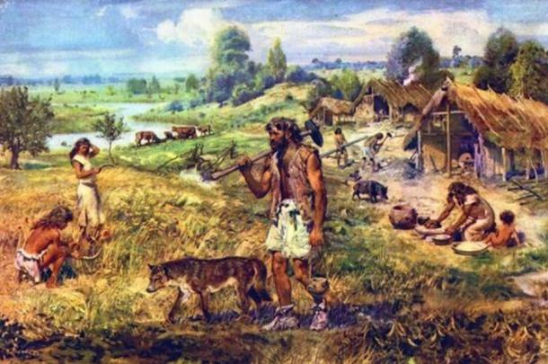 Farmers in the Neolithic era.