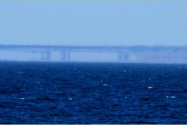 A Fata Morgana along the Santa Cruz, Calif., shoreline as seen from Moss Landing on May 7, 2007.