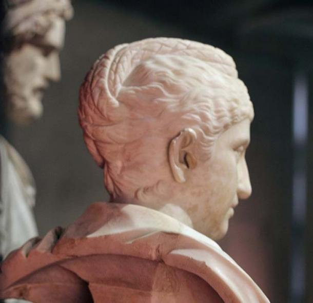 Bust of Faustina in the Musei Capitolini (side view; note the distinctive hairstyle).