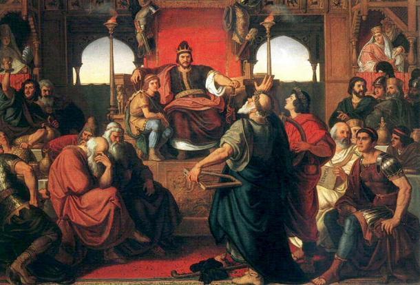 Feast of Attila (1870) by Mór Than